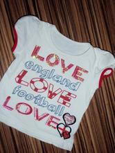 Luxusní tričko england pro vaše holčičky, george,92