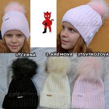 Nádherná zimní čepice pro holky i maminky, 140 / 146 / 152 / 158