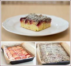 Švestkový koláč s makovou drobenkou (místo švestek jsem dala blumy)