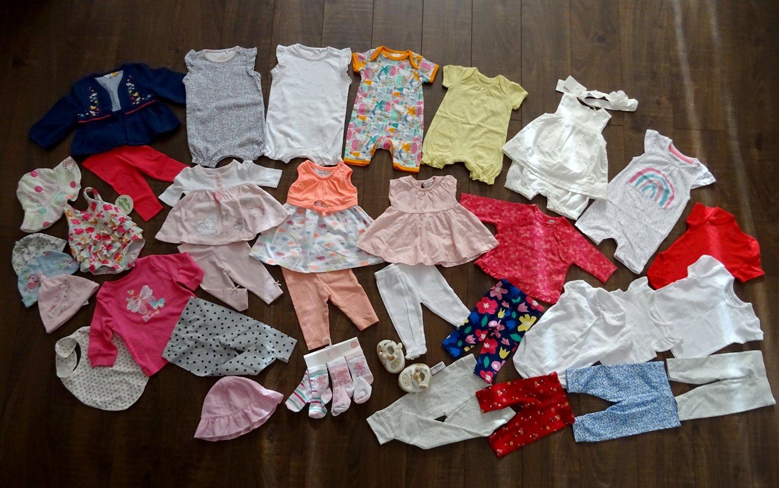 Balíček oblečení holčička 0-3 měs. (35 ks) febdc511fb