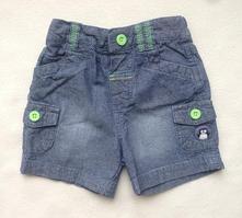 Bavlněné šortky - džínový vzhled, tu,68