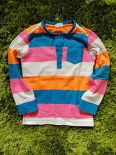 Proužkované neon tričko, kappahl,116