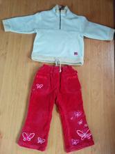 Manžestr kalhoty, mikina flauš,1,5 roku, 2 roky, george,92