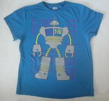 Bavlněné tričko robot kr. rukáv, f&f,152