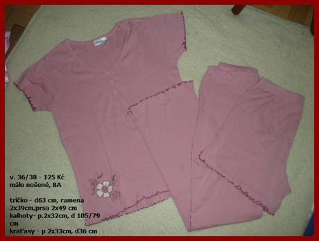 Pyžamo vel 36/38 bavlna kalhoty i kraťasy, simone,38