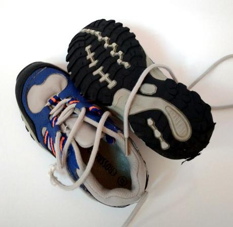 E278 - modré botasky s oranžovým, 27