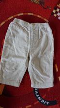 Heboučké béžové kalhoty s podšívkou george, v 74, george,74