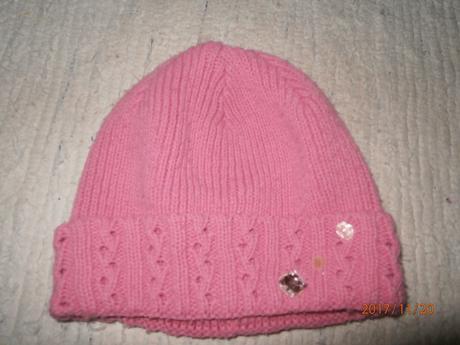 Růžová zimní čepice,čepička,vel.3-5 let, 110