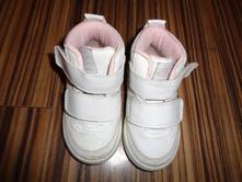 Luxusní bílostříbrné kožené kotníčkové boty 20/21, h&m,20