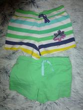 Pruhované + zelené šortky kraťásky, f&f,104