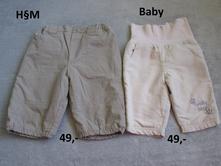 Kalhoty vel.62, h&m,62