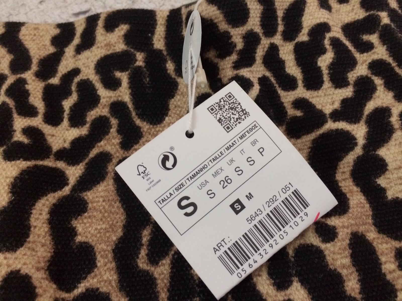 564926e428 Po usk. Kratší tygrovaná sukně zara ...