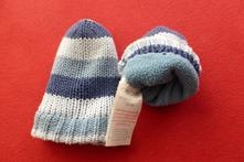 Pletené bavlněné rukavičky, cherokee,74