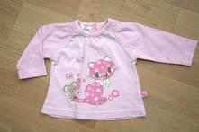 Růžové triko s kočičkou, vel. 62, ergee,62