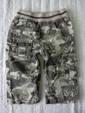 Maskáčové kalhoty s medvídky, next,80