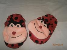 Beruškové bačkory,pantofle sparkys,stélka 21 cm, 30