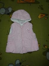 Růžová vesta s kapucí, baby club,86