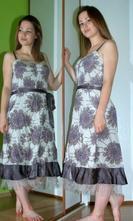 Společenské i letní hedvábné šaty, 44