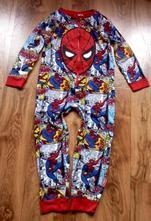 Komisové pyžamo-overal spiderman,bez známek nošení, rebel,116