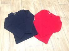 Červené a tmavě modré tričko, next,110