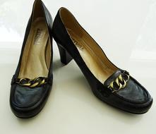 Kožené boty na podpatku, stival,38