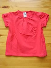 Červené tričko / tunika zn. zara baby, zara,74