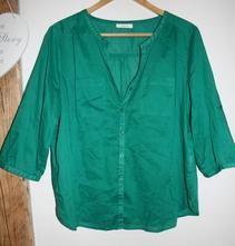 Zelená halenka / košile s 3/4 rukávem, c&a,42