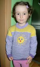 Sluníčkový svetřík od babičky :)