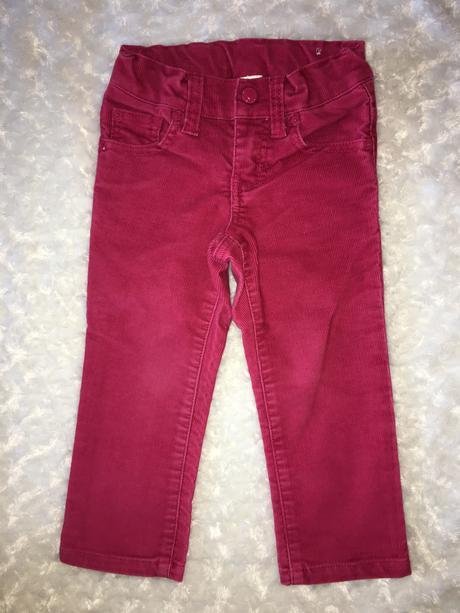 Růžové manžestrové kalhoty twinkle, 92
