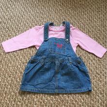 Džínové šaty s tričkem, ergee,80