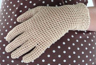 Háčkované rukavičky (první a zatím poslední pokus)