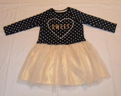 G135dívčí teplé šaty s tylovou sukní, pepco,110