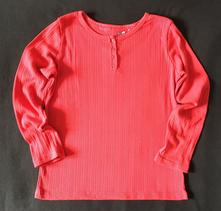 Vel. 140 červené triko s knoflíčky, young dimension,140