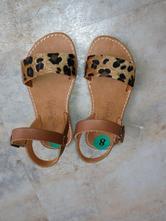 Nové kožené sandále vel.8, 24 leopard hnědá dívka , 24