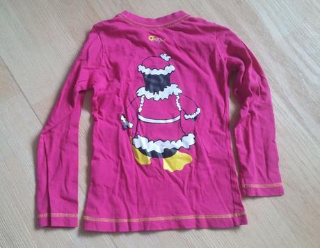 Tričko s dl. růžové tučňák, 110