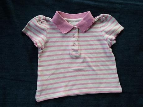 Tričko s kr. s volánky růžové pruhy, ladybird,68