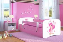 Dětská postel se zábranou ourbaby - víla leonka, 70,140