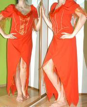 Karnevalové šaty čertice, ohnivá žena, rudý anděl, 38