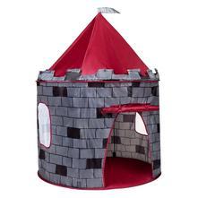 Dětský stan hrad playto šedý,