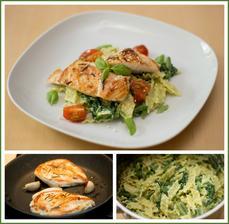 Těstoviny s pestem, rozmarýnové kuře - Jamie Oliver 15 minut v kuchyni