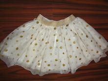 Luxusní hodně bohatá tylová sukně s puntíkama, h&m,92