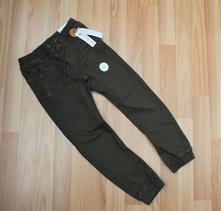 Lindex khaki džíny kalhoty pumpky pružné, lindex,104 / 110 / 116