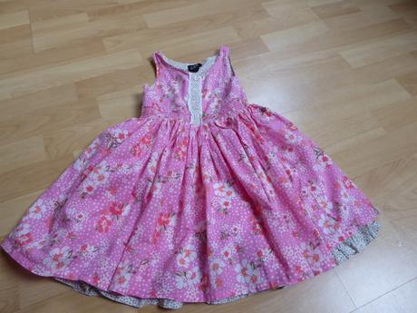 Nabírané šaty, h&m,116