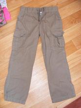 Khaki plátěné kalhoty vel. 116, alive,116