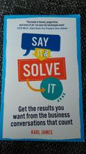 Kniha karl james - say it & solve it,