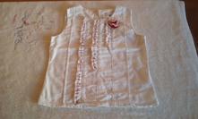 Dívčí halenka bez rukávů, vertbaudet,104