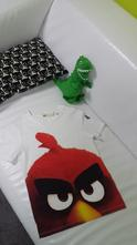 Tricko angry birds, h&m,122