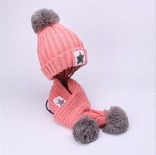 Zimní set čepice+šála (řůžový), vel.1-5 let, 80 - 110