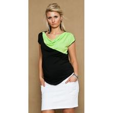 Těhotenské džínsová sukně joana - bílá, l - xxxl