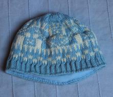 Zimní čepice norský vzor, 56